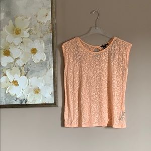 Sheer, peach-colored top from Forever 21